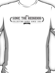 Sonic The Hedgehog - Retro Black Clean T-Shirt