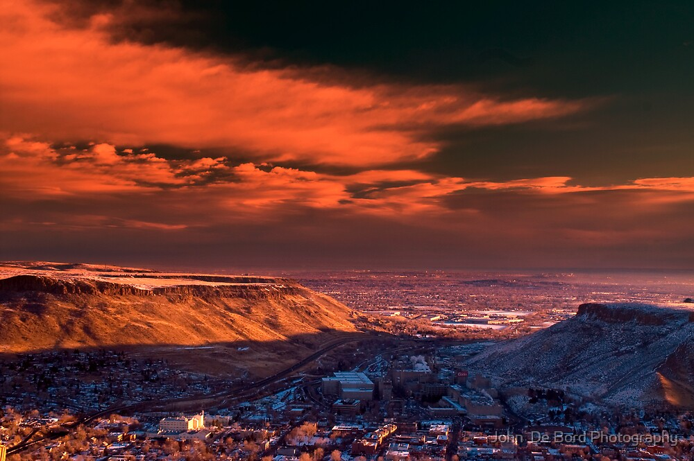 A Sunrise Over Golden by John  De Bord Photography