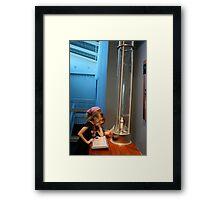 Curiosity Wins! Framed Print