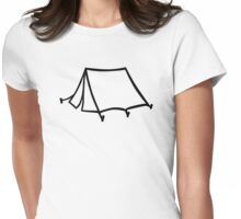 Camping tent Womens Fitted T-Shirt