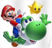 Mario and Yoshi Poster