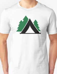 Camping tent forest Unisex T-Shirt