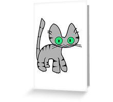 Gray Tiger Kitty Greeting Card