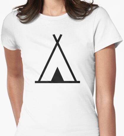 Teepee tent Womens Fitted T-Shirt