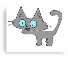 Petite Gray Kitten Canvas Print