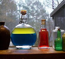 Rainy Day Bottles by Michael C. Fortner