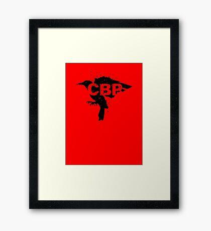Crippled Black Phoenix Logo (Black) Framed Print