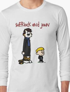 Sherlock Hobbes and John Calvin Long Sleeve T-Shirt