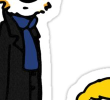 Sherlock Hobbes and John Calvin Sticker