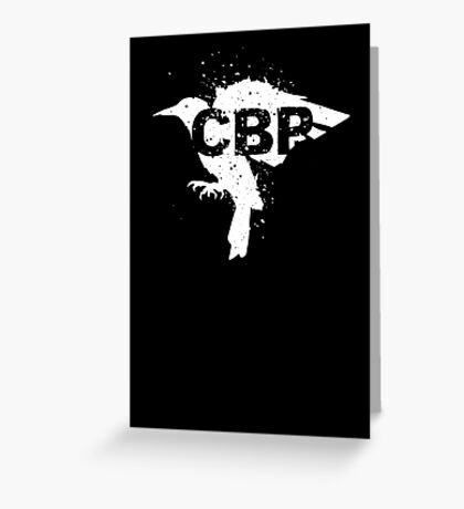 Cripple Black Phoenix Logo (White) Greeting Card