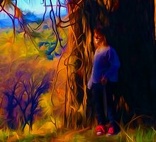 Girl With Red Laces by Rod Underhill