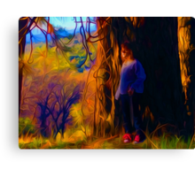 Girl With Red Laces Canvas Print