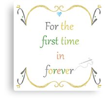 For the First Time in Forever Needlepoint Canvas Print