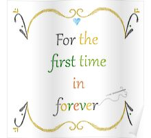 For the First Time in Forever Needlepoint Poster