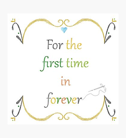 For the First Time in Forever Needlepoint Photographic Print