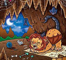 Wee Beasties - Wee Manticore by whimsyworks