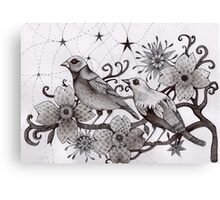 moonlight birds Canvas Print