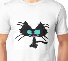 Black Cat Smiling  Unisex T-Shirt
