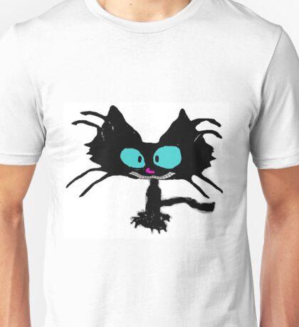Black Cat Smiling  Unisex T-Shirt