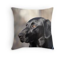 My Dog, Emma is a Black Lab. Throw Pillow