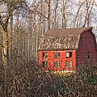 Red Barn of December by Appel