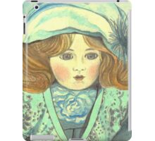 DOLL-PRINCESS - ANTIQUE FRENCH PORCELAIN-DOLL with blue Hat  iPad Case/Skin