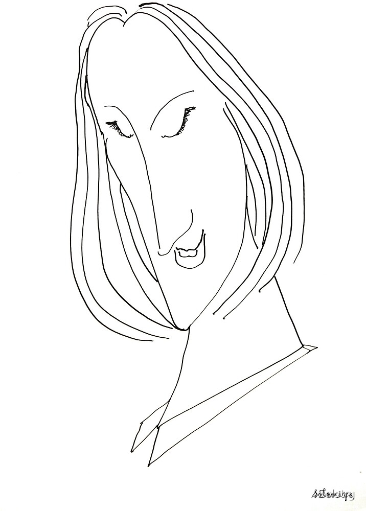 Abstract sketch of face VIII by Solotry