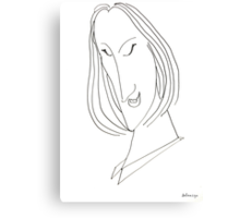 Abstract sketch of face VIII Canvas Print