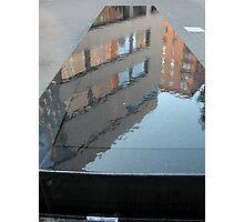 birdbath reflection in nyc.... Photographic Print