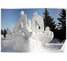 Snow Sculpture 3 Poster