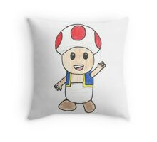 Toad Drawing Throw Pillow