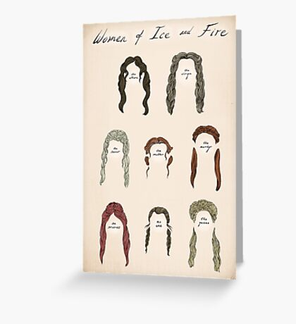 Ladies of Ice and Fire Poster Greeting Card