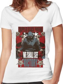 We Shall See Victory! Women's Fitted V-Neck T-Shirt
