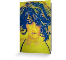 Life in Blue and Yellow Greeting Card
