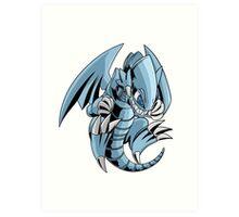 Blue-Eyes Toon Dragon Art Print
