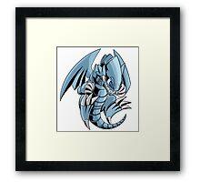 Blue-Eyes Toon Dragon Framed Print