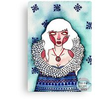 Snow Lady Canvas Print