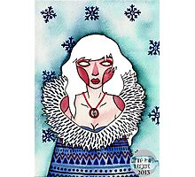 Snow Lady Photographic Print