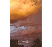 Clouds, summer evening Photographic Print