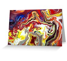 Fluid Flowing Abstract Painting Greeting Card