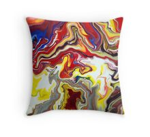 Fluid Flowing Abstract Painting Throw Pillow