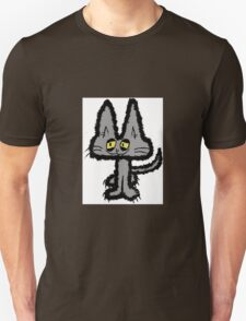 Gray Kitten with Yellow Eyes Unisex T-Shirt