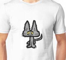 Gray Kitten with Yellow Eyes Unisex T-Shirt