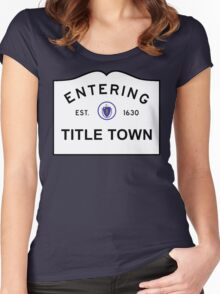 Title Town - Boston, MA Women's Fitted Scoop T-Shirt