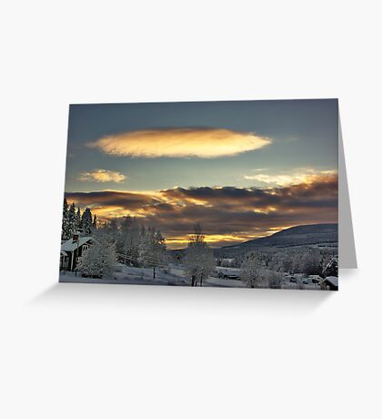 Cloudy Mothership Greeting Card