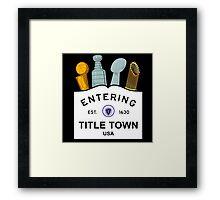 Title Town - Boston, MA - Trophy Version Framed Print