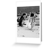 Beach Photographers Greeting Card
