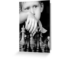 Louis playing chess Greeting Card