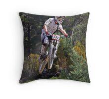 Forest Jump Throw Pillow