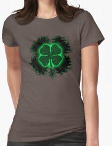 smokey shamrock Womens Fitted T-Shirt